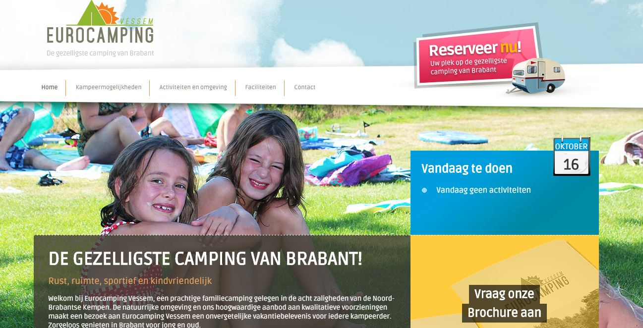 Website Eurocamping Vessem
