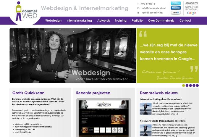 Dommelweb nieuwe homepage