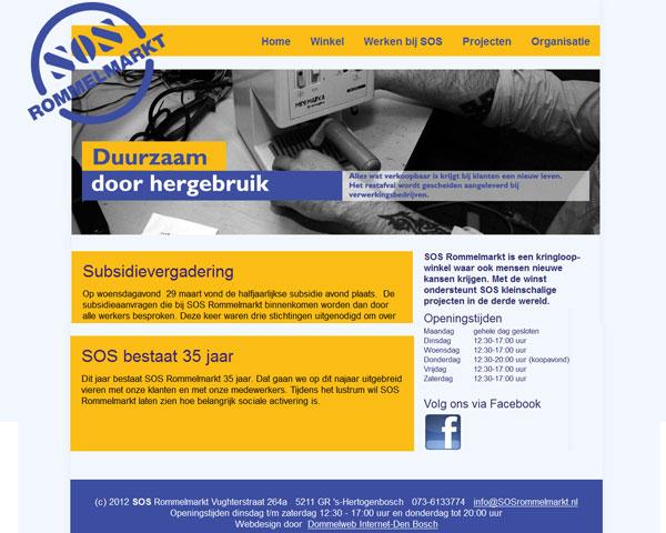 Nieuwe website voor SOS rommelmarkt Den Bosch